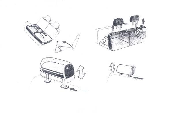 12. Складывание задних сидений
