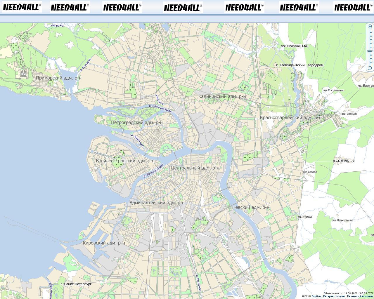 карта петербурга онлайн